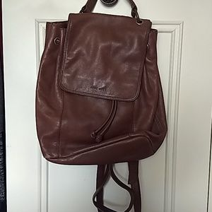 Nine West small brown leather backpack